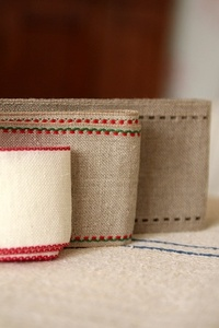 Wide Linen embroidery tape